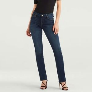 7 For All Mankind Dark Kimmie Straight Leg Jean 28